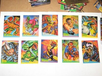 1995 Fleer ULTRA Spider-Man INSERT CLEARCHROME 10 Card Set! VENOM GREEN GOBLIN!
