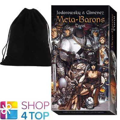 Meta-Barons Tarot Deck Cards Esoteric Telling Lo Scarabeo With Velvet Bag New