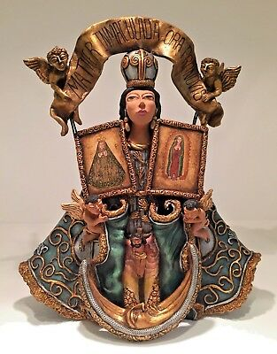 JOSE JUAN GARCIA AGUILAR Large Patron Saint clay folk art 12.5 inches tall