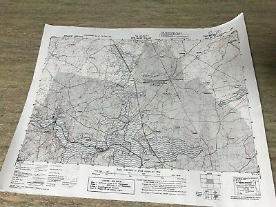 WW2 D Day Landing Map Limited Copy Of Original Ste Mare Eglise