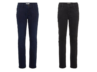 Name it Jungen Slim Jeans auch festlich Schwarz Black Dark Blue Denim 116 -164