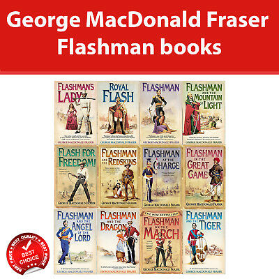 Flashman Papers Series George MacDonald Fraser Collection 12 Books Set Pack NEW
