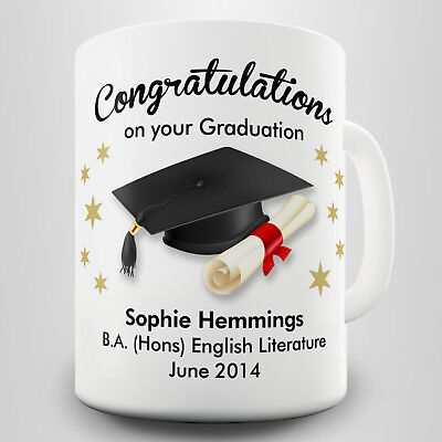 Graduation Personalised Gift Mug - Momento for that special occasion
