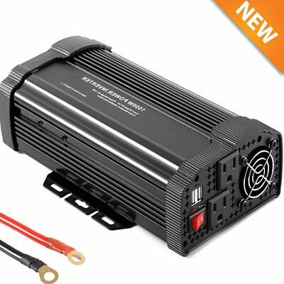 1500W Peak Solar Power Inverter 12V DC 110V AC Modified Sine Wave Converter QC