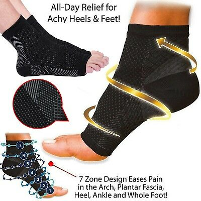 2X New Plantar Fasciitis Compression Socks Heel Foot Arch Pain Relief Support UK