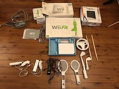 Nintendo Wii console and many accessories