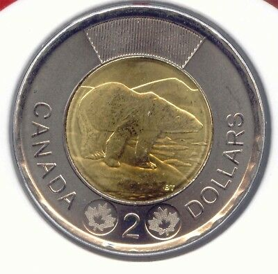 Canada 2017 Toonie Two Dollar Canadian $2 UNC BU Polar Bear EXACT COIN SHOWN