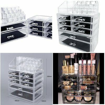 Beauty Extra Large 5 Tier Clear Acrylic Cosmetic Makeup Cube Organizer Storage Y
