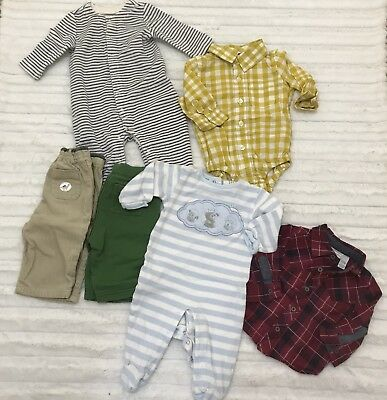 Lot of 6 Winter Clothing Items for Boys 3 - 6 Months Baby Gap Gymboree First Imp