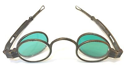 1800s Antique 4 Lens Spectacles Antique Brass Eyeglasses Clear And Green Tint