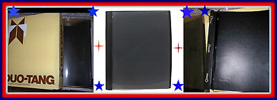 25 Clear Front Cover Report Binder 53540-05 BLACK School Work Letter 3 Fasteners