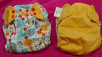 Bum Genius 4.0 Pocket Diaper-Lot of 2 Limited Edition Louis/Clementine