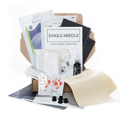 Single Needle - Hand Poke PRACTICE Tattoo DIY Kit (Optional Extra Ink) - DOUBLE