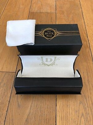 DITA BLACK Hard Case + Cloth + Box For Sunglasses or Eyeglasses NEW