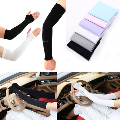 1 Pair Unisex Outdoor Sports Cooling Arm Sleeves Cover Sun UV Protector Gloves