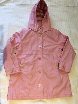 Hatley Girls Hooded Lined Rain Coat Jacket Removable Hood Size 8
