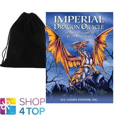 Imperial Dragon Oracle Deck Cards Esoteric Us Games Systems With Velvet Bag