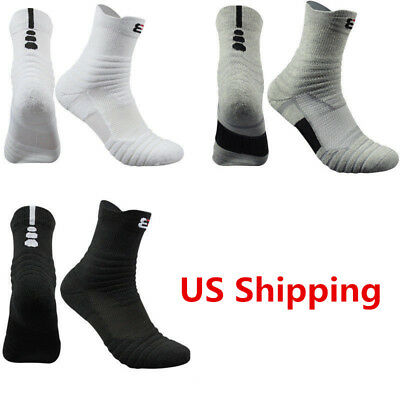 Men's 5 Pack Athletic Sock Combed Cotton Leisure Socks Sport Middle Ankle Socks