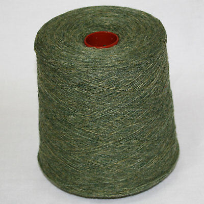 Shetland Weaving Yarn - Colour Chive - various cone weights