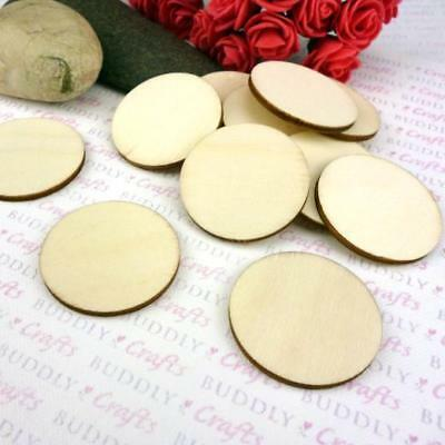 Buddly Crafts Bare Wood Circles