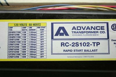 Philips Advance RC-2S102-TP Magnetic Ballast 2-Lamp 120V VHO