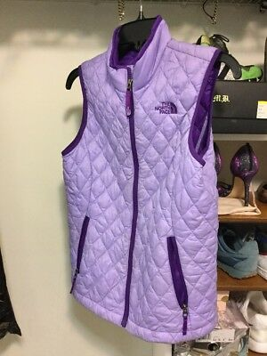 The North Face Thermoball Quilted Vest Purple Girls Youth 14/16