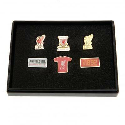 Liverpool Football Club 6 Piece Metal Pin Badge Set Boxed Official Crest Souveni