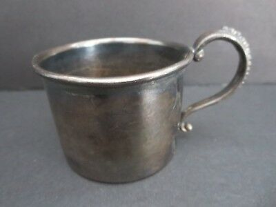 """Vintage  Marked  1 3/4"""" Silverplate Childs Cup    Made In Canada"""