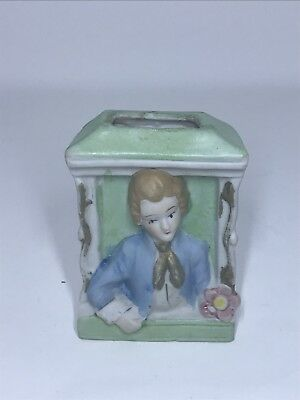 Occupied Japan Wall Pocket Planter-sweet Face-bisque