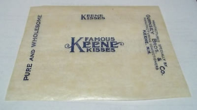50 Vintage candy Wrappers....Famous Keene Kisses...Keene N.H.