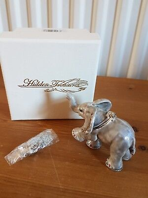 Hidden treasures elephant trinket box