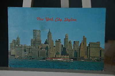 AK New York City, skyline 1967 gelaufen Ridgewood,   Air Mail Par Avion