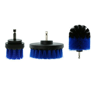 "2/3.5/4"" Tough Drill Brush For Bathroom Tile Grout Car Carpet Cleaning Blue"