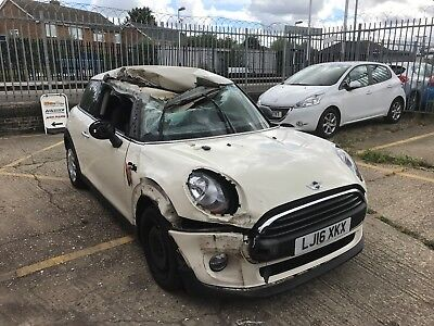 Mini One 2016/16 Reg, 1.2 Manual Petrol, Spares or Repair, Damaged. Non-Recorded