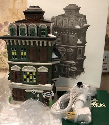 "DEPT 56 Flat of Ebenezer Scrooge"" Dickens' Village Porcelain House #5587-5 NEW"