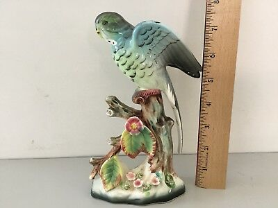 Ceramic Parakeet Figurine Bird