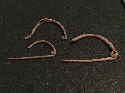 ancient roman artifacts, Lot Of 3 Roman Fibulas