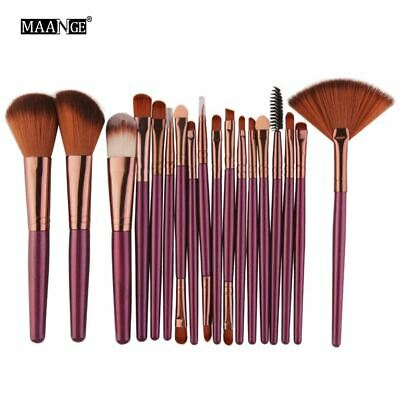 6/15/18Pcs Makeup Brushes Tool Set Cosmetic Podwer Eye Shadow Foundation