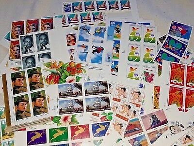 Unused 80 of Multiples & Strips & Singles of 33¢ US PS Postage Stamps FV $26.40