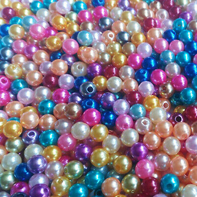 50/100/200/400 Pcs Mixed Pastel Glass Pearl Loose Round Spacer Beads 4/6/8/10mm