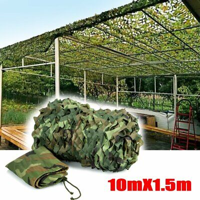 10Mx1.5M Camouflage Net Camo Hunting Shooting Hide Army Camping Woodland Netting