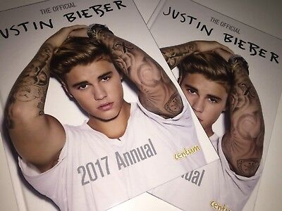2 x The Official Justin Bieber Annual 2017 (Annuals 2017) by Centum Books Book