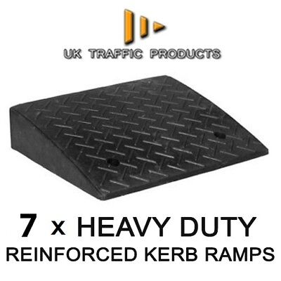 Pack of 7 - HEAVY DUTY Kerb Ramps (Perfect for HGV use)