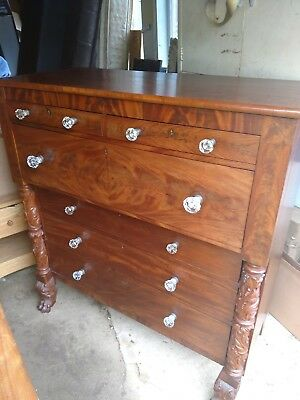 antique empire dresser with claw feet