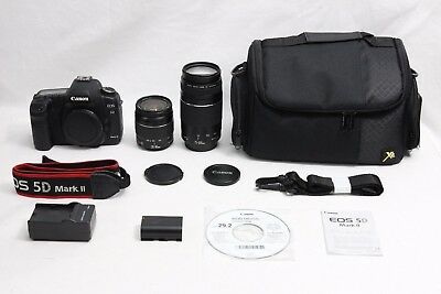 Canon EOS 5D Mark II 21.1 MP Digital SLR Camera EXCELLENT TWO Canon Lenses + BAG