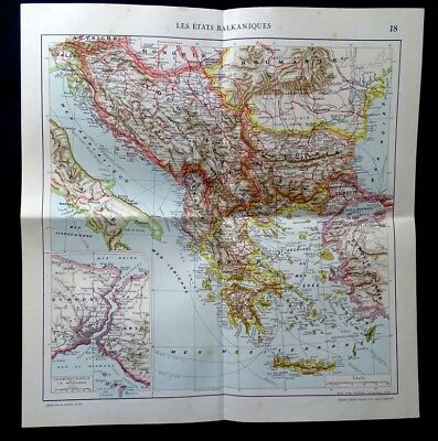 Antique-map, Balkan States, Constantinople, Printed 1923.