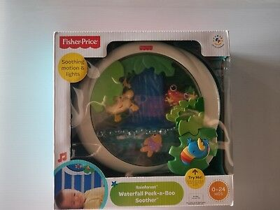 Fisher Price Rainforest Waterfall Peek a Boo Soother 0-24 Months old