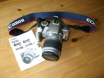 Canon EOS 300V / Rebel Ti 35mm SLR Film Camera with 28-90mm lens. Hardly used.