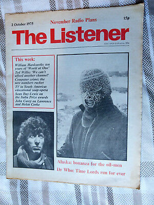 THE LISTENER Magazine 2nd Oct 1975 Dr Who TOM BAKER BBC Radio Times