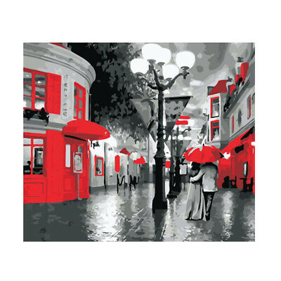 Night Street Painting By Numbers Kits Paint On Canvas Wall Art Picture